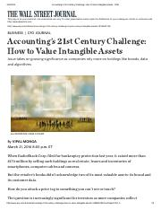 Session 5_Accounting's 21st Century Challenge_ How to Value Intangible Assets - WSJ 20160321.pdf