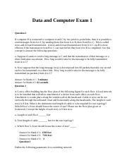 Data and Computer Communication Exam I.docx