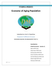Section C - Chief Economist - Economy of aging Population