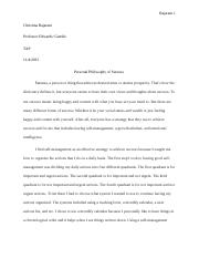 Personal Philosophy of Success Essay.docx