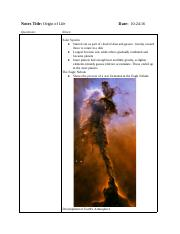 Origin of Life - Google Docs