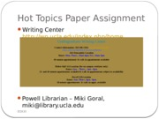 Hot Topics Paper Assignment_Resources NEW