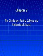 (note 2) - Challenges Facing Colleges and Professional Sports