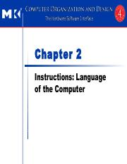 Chapter 2 Instructions Language of the Computer_ARM