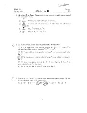 Midterm Exam Solution 1