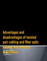 Advantages and disadvantages of twisted pair cabling.pptx