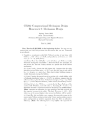 Computational Mechanism Design Homework 2