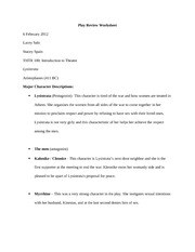 Play Review Worksheet 2