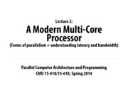 Carnegie Mellon Parralel Computing Notes on Lecture 2