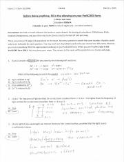 03 Exam 2 Solutions