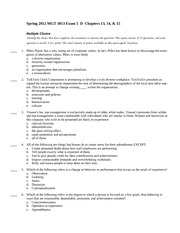 Spring 2012 MGT 3013 Exam 5 D Chapters 13  14  15