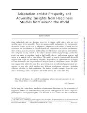 Adaptation amidst prosperity and adversity insights from happiness studies from around the world.pdf