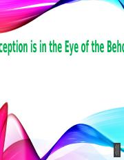 Perception is in the Eye of the Beholder.pptx