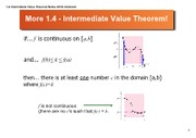 1-4 Intermediate Value Theorem Notes