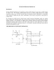 ECE452 POWER ELECTRONICS II