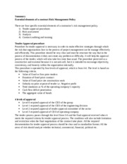 Summary of Essential elements of a contract Risk  Management Policy.docx