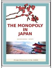 The monopoly in Japan
