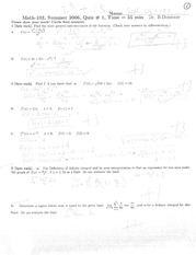 General Antiderivative of a Function Quiz