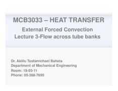 Heat transfer Chapter 7 lecture 3