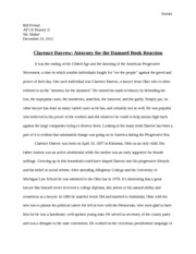 Clarence Darrow Research Paper
