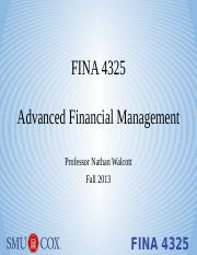 Lecture 1 - Financial Statement Analysis - students