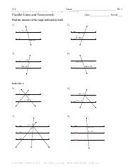 Parallel Lines and Transversals - Advanced