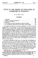 notes on theory of attributes