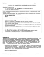 STATS 2 Worksheet #1 (descriptive stats)