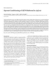 Operant conditioing in Aplysia.pdf