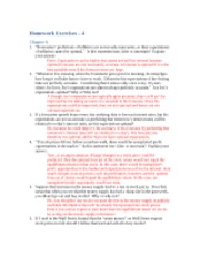 "Homework Assignment â€"" 4 answers"