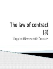 Buslaw 1 - Part B _3_ - Contract _Illegal and Unreasonable Contracts_.pptx
