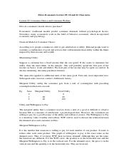 Micro Economics Lecture 09 and 10 Class notes.docx