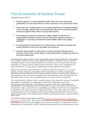 Case 2 The Economics of Nuclear Power.docx