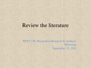 RPTS 336 - (6) Review the literature (student version)