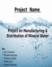 Project plan water