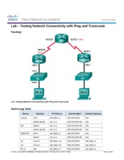 7.3.2.7 Lab - Testing Network Connectivity with Ping and Traceroute