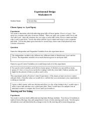 Worksheet Experimental Design Worksheet experimental design worksheet 2 docx 3 pages 1 docx