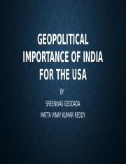 GEOPOLITICAL IMPORTANCE OF INDIA FOR THE USA.pptm