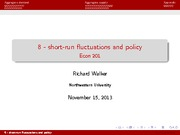 8 - short-run fluctuations and policy(1)