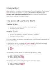 Exam In A Color Wheel The Colors Directly Opposite To Each Other Has Maximum Course Hero
