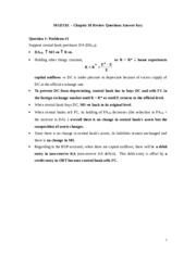 Review Solutions Chapter 18
