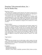 Sample Media Plan - Premium Telecommunications