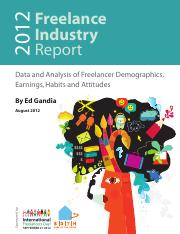 Freelance Industry Report2012
