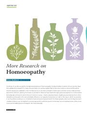 more research on homeopathy