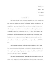 Festival of the Arts Essay