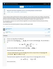 Division Algorithm And Converting Between Number Base - Mathematics Stack Exchan