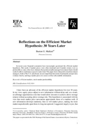 12 Malkiel_Reflections on the EMH_30 years later