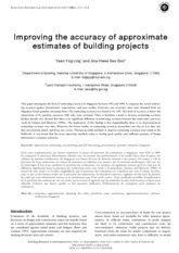 Improving the accuracy of approximate estimates of building projects-1