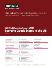 45111 Sporting Goods Stores in the US industry report