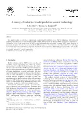 A survey of industrial model predictive control technology